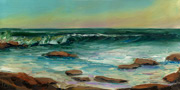 Winter Surf Oil Painting
