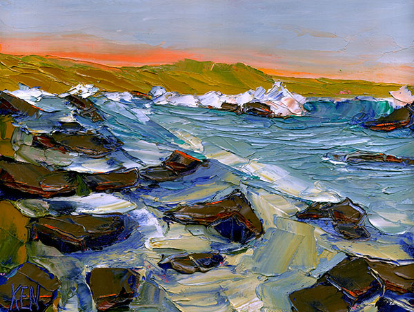 shelter cove california painting