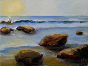 Rock Family Seascape Oil painting