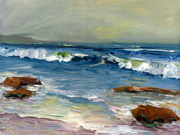 111710-01 Seascape Oil Painting