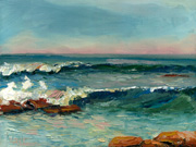 111710-02 Seascape Oil Painting