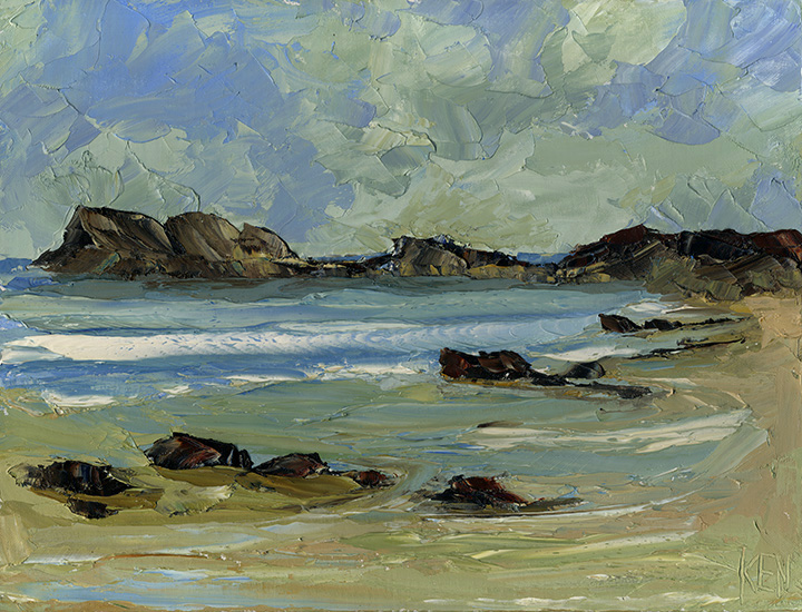 oregon coast oil painting