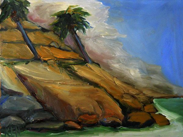 California Coast Seascape painting