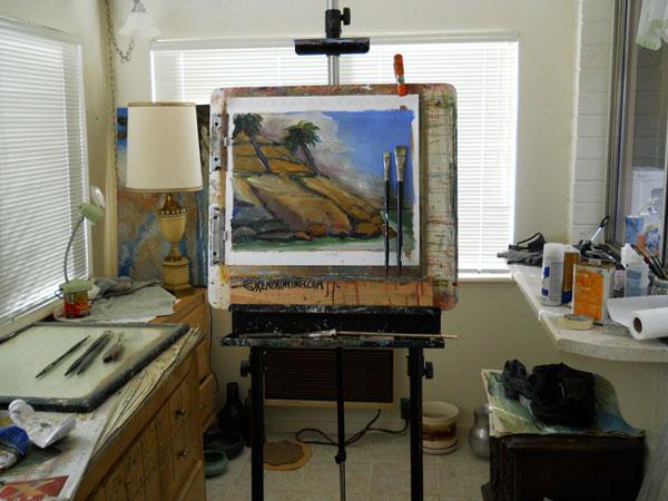 Calfornia Coast Oil Painting