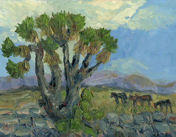 Arizona Desert Landscape Oil Painting