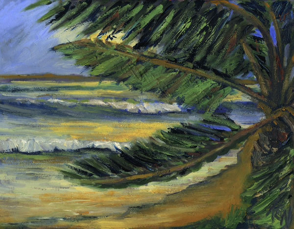 off shore wind seascape painting