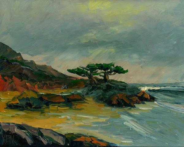Monterey Cypress Coast Painting