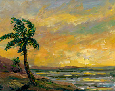 Old Hawaii Coast Painting