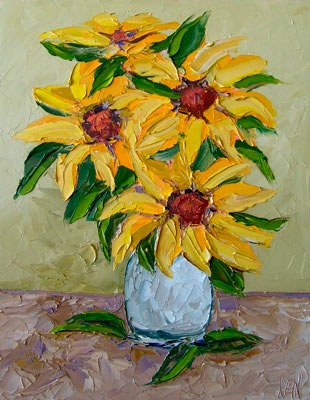 SUNFLOWERS Still Life Oil Painting