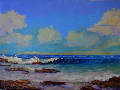 Seascape Paintings Pacific Ocean Seascape Oil Painting Palette Knives