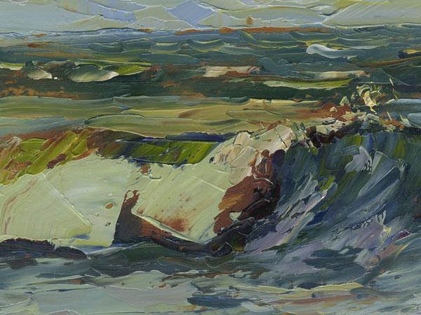 port hueneme oil painting
