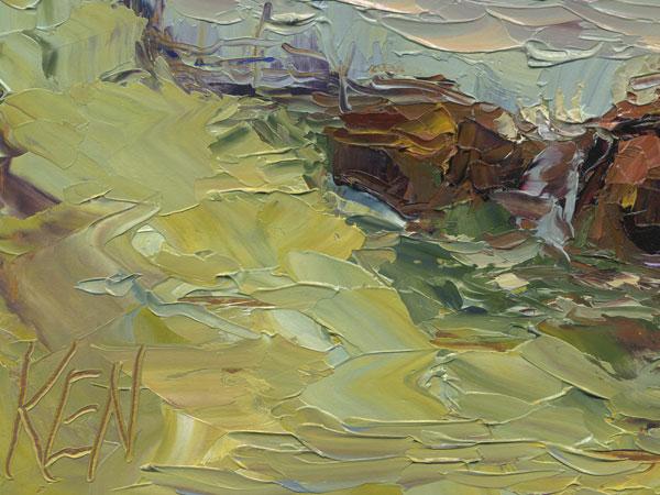 ventura beach oil painting