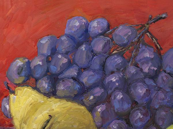 grapes impressionism