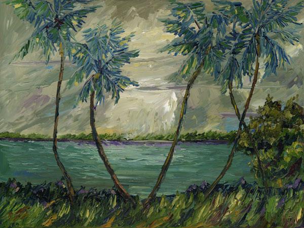 Sky Peek Seascape Oil Painting