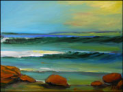 Glassy Surf Oil Painting