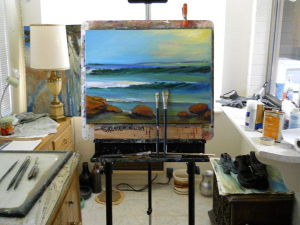 Glass Surf Oil painting Ken Studio