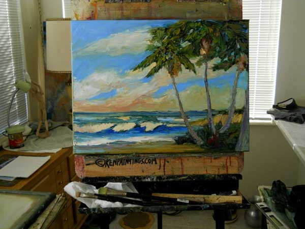 pacific ocean mexico seascape painting