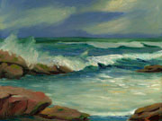 Breaking Wave Oil painting
