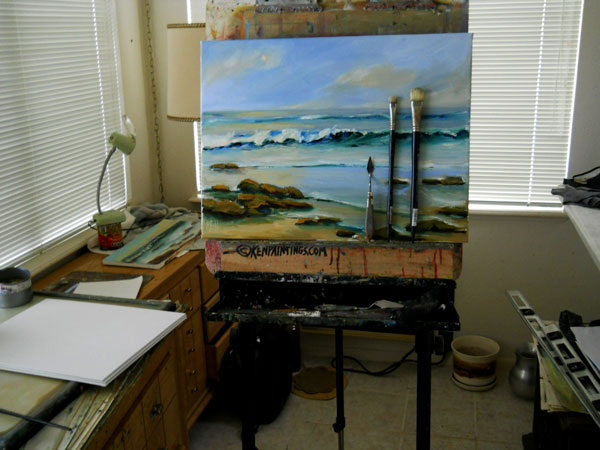The Ocean kenpaintings.com studio