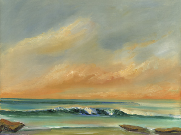 Summer Surf Oil painting