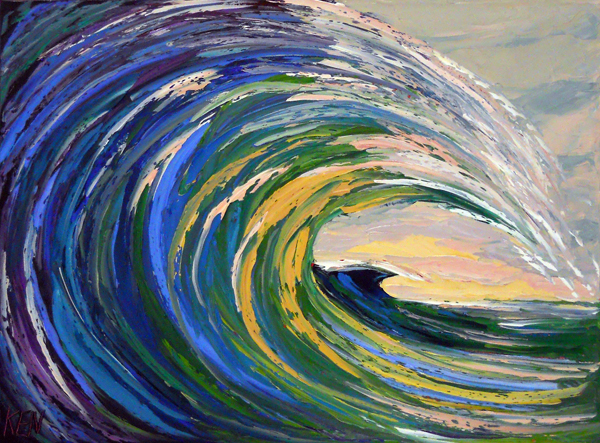 WAVES seascape painting