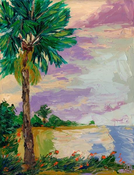 palm tree  painting