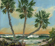 Three Palms Oil Painting