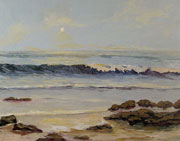 Calm Pacific Ocean Painting