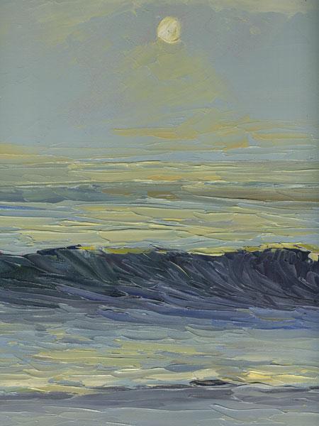 California coastal surf