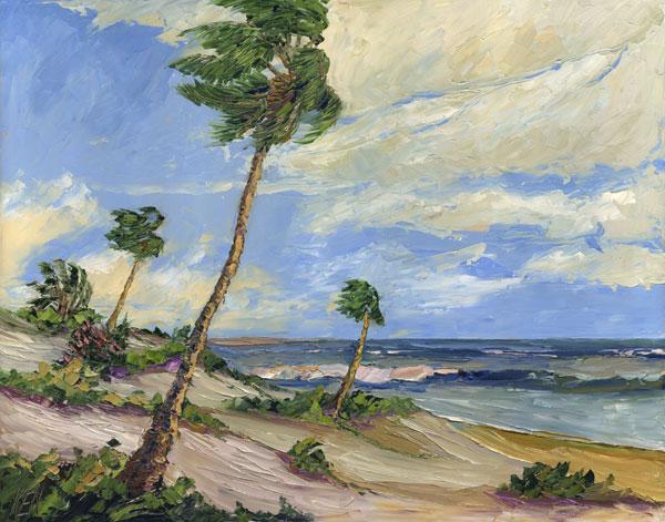 Sea Dunes Seascape Oil Painting