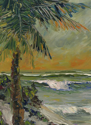 florida highway men style oil painting