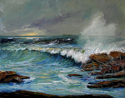 Storm Surf Oil Painting
