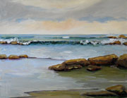 Ocean Channel Seascape Painting