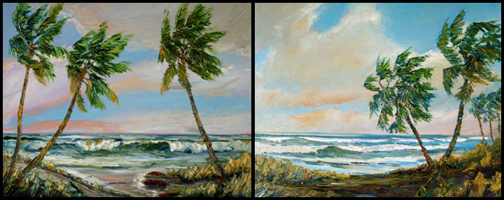 Seascape Palms 02 and 01