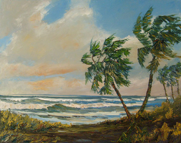 florida highwaymen style oil painting