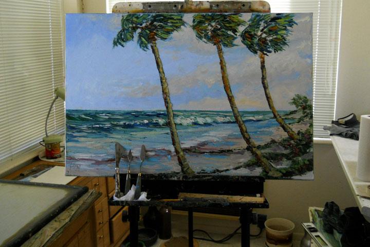 Florida Miami Seascape Painting