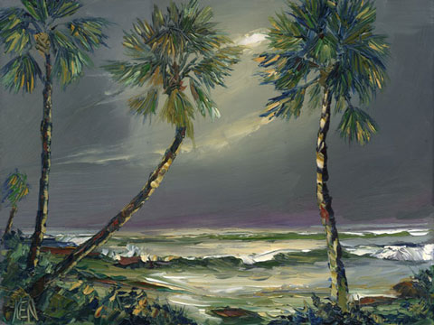 florida highwaymen style oil paintinng