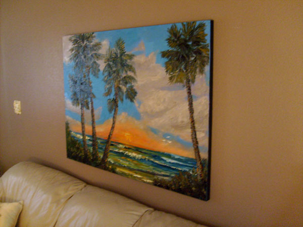 large seascape painting gallery wrap sides