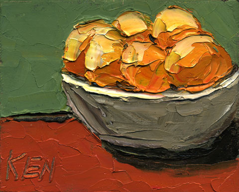 Bowl of Oranges Painting