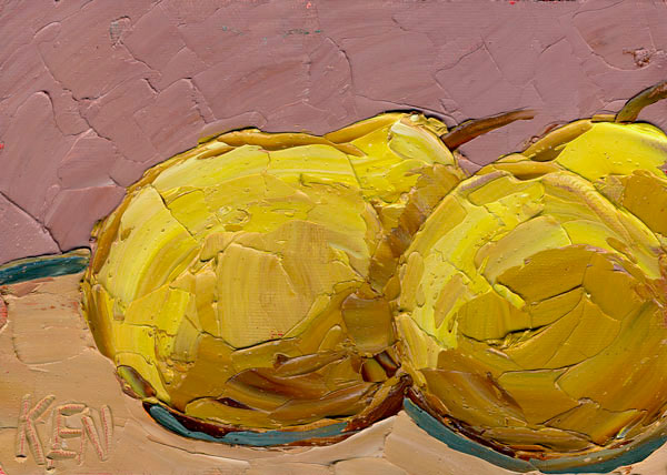 TWO PEARS FRUIT PAINTING
