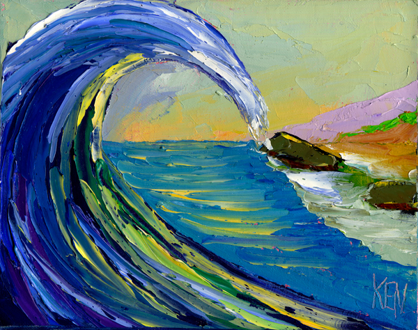 wave curl painting