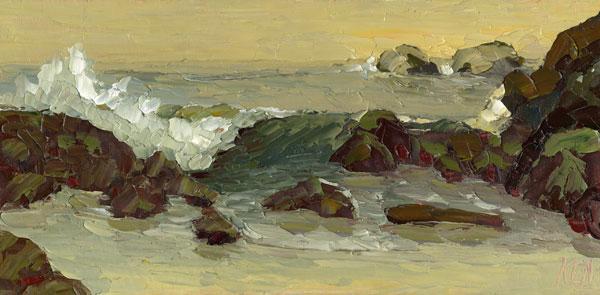 laguna beach oil painting seascape