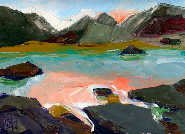 nevada lake powell painting