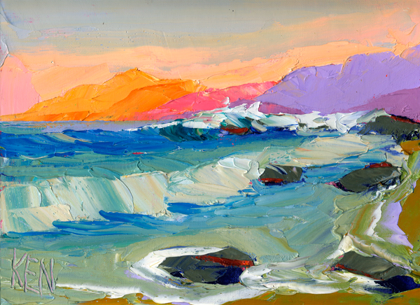 pacific seascape painting