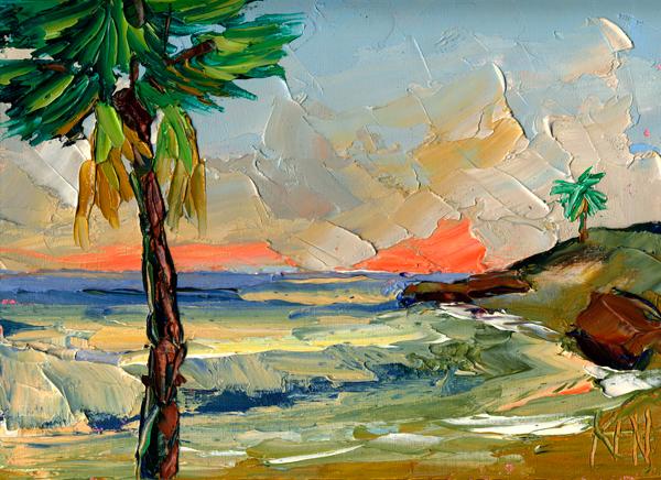 shoreline palms painting