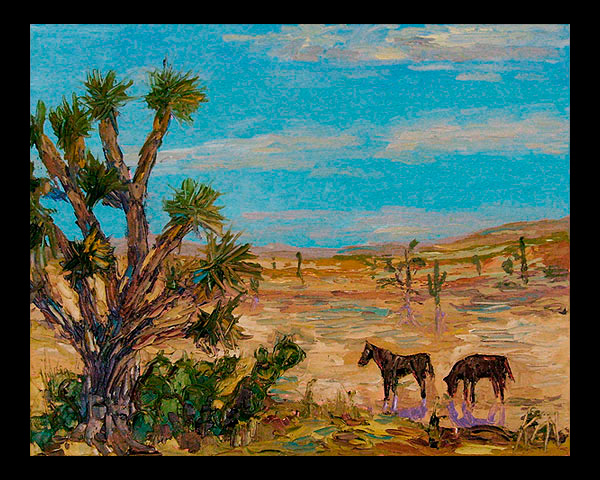 desert oil painting