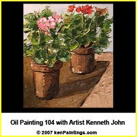 geranium flowers oil painting 104 dvd