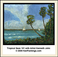 tropical seas palm trees sailboats video