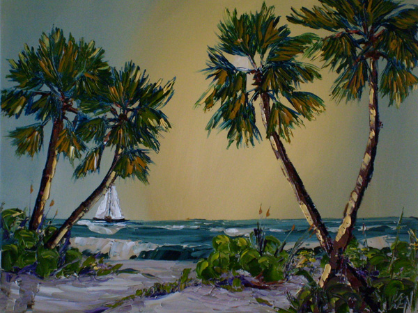 tropical seas oil painting dvd