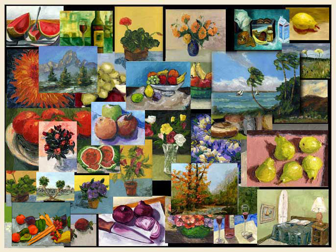 still life impression oil paintings